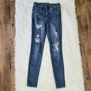 American Eagle Distressed Skinny Jeans 6 Long